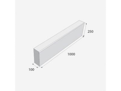 obrubník zkosený 100/25/10 šedý ABO 14-10