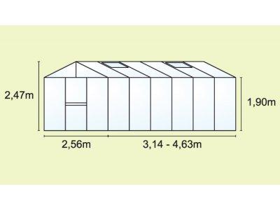skleník VITAVIA ZEUS 15700 PC 16+16 mm - příloha