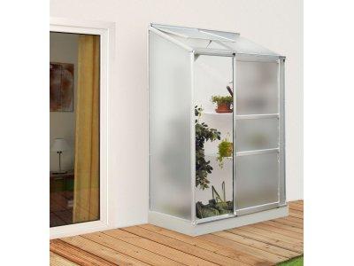 skleník VITAVIA IDA 900 matné sklo 4 mm stříbrný
