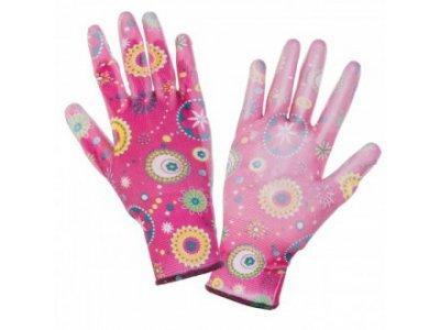 rukavice PU růžové č.8 LAHTIPro