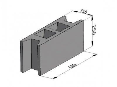 bednící tvárnice IZO ZB 15cm (60x15x25cm)