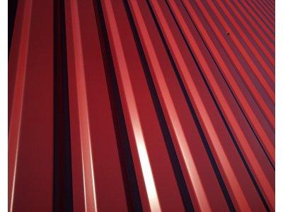 trap.plech SAT18/ 2m barva červená II. jakost RAL3011