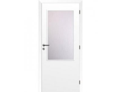 dveře bílé 2/3 sklo 80 P
