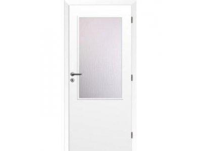 dveře bílé 2/3 sklo 90 P