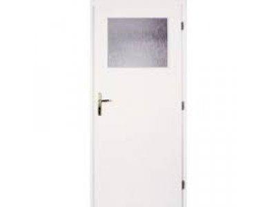 dveře bílé 80P 1/3 sklo
