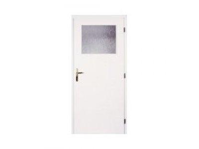 dveře bílé 70P 1/3 sklo