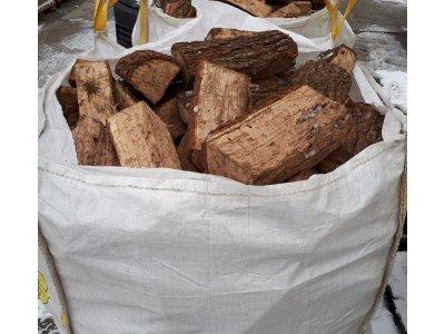 palivové dřevo DUB řezané 33cm/1 prms štípané (13,2MJ/kg)
