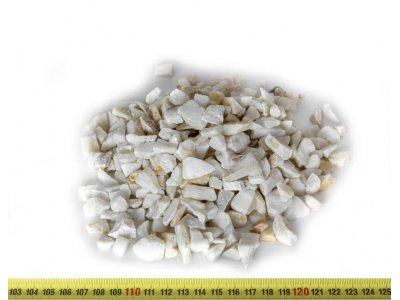 drť teracová bílá 10-16mm 25kg