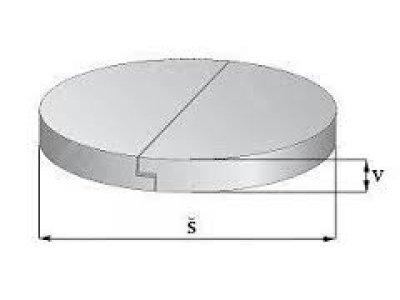 betonový poklop půlený  80 skruž ( 100cm)