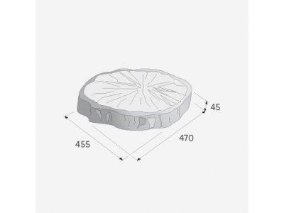nášlap BARK letokruh 2 hnědá  (47x45,5x4,5) Presbeton - letokruh 2 2.jpg