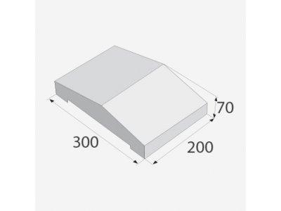 stříška ZDV200 přírodní 20x30x7 cm