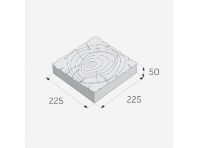 nášlap BARK 3 trám 22,5x22,5x5cm hnědý - bark 3 1.jpg
