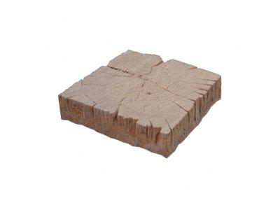 nášlap BARK 3 trám 22,5x22,5x5cm hnědý