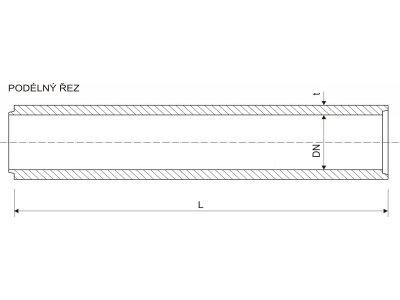 Betonika betonová roura 15cm/100cm P+D