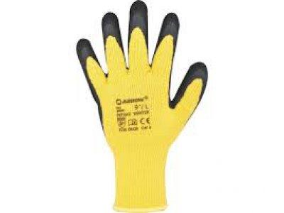rukavice Petrax vel. 10 WINTER žlutočerné