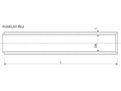 Betonika betonová roura 20cm/125cm P+D
