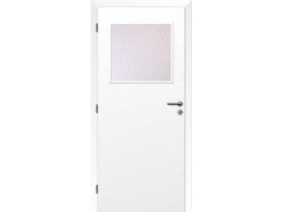 dveře bílé 80L 1/3 sklo