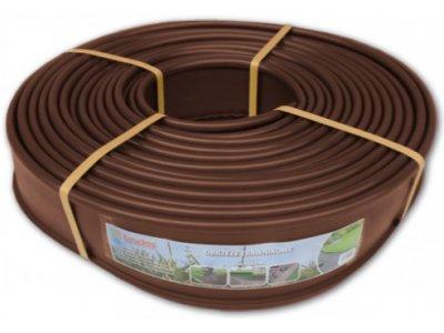 trávníkový lem plochý 125mmx18m  hnědý