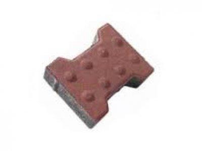 dlažba íčko 6cm červená slepecká Brož