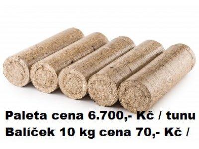 BRIKETY plný válec 10 kg