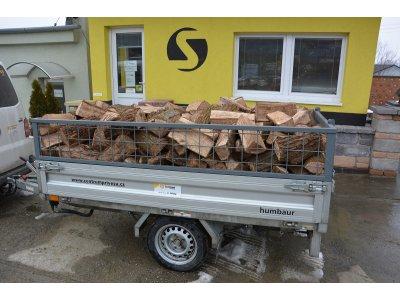 palivové dřevo DUB řezané 33cm/2 prms štípané (13,2MJ/kg)
